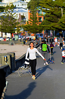 Oriental Parade at 4pm, Monday, during Level 3 lockdown for the COVID-19 pandemic in Wellington, New Zealand on Monday, 11 May 2020. Photo: Dave Lintott / lintottphoto.co.nz