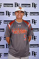 Alexander Jackson (5) of Venus High School in Venus, Texas during the Baseball Factory All-America Pre-Season Tournament, powered by Under Armour, on January 12, 2018 at Sloan Park Complex in Mesa, Arizona.  (Mike Janes/Four Seam Images)