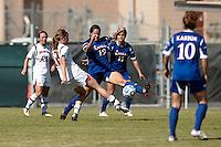 SAN ANTONIO, TX - OCTOBER 31, 2012: The Big 12 Conference Women's Soccer Championship - Game 2 featuring the Texas Tech University Red Raiders vs. the Kansas University Jayhawks at Blossom Soccer Stadium. (Photo by Jeff Huehn)
