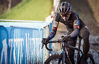 Thibau Nys (BEL/Baloise Trek Lions)<br /> <br /> Elite Men's Race<br /> Belgian National CX Championships<br /> Meulebeke 2021<br /> <br /> ©kramon