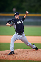 GCL Yankees 2 starting pitcher Jeffrey Degano (87) during a game against the GCL Yankees 1 on July 29, 2015 at the Yankee Minor League Complex in Tampa, Florida.  The game was suspended after two innings due to rain.  (Mike Janes/Four Seam Images)