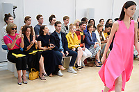 Dame Dacrcy Bussell, Ellie Bamber, Dame Kristin Scott Thomas and Charity Wakefield<br /> front row at the Jasper Conran London Fashion Week SS18 catwalk show, London<br /> <br /> ©Ash Knotek  D3431  15/09/2018