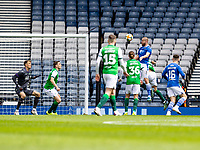 22nd May 2021; Hampden Park, Glasgow, Scotland; Scottish Cup Football Final, St Johnstone versus Hibernian; Shaun Rooney of St Johnstone scores the opening goal for 0-1 in minute 32, past Hibs keeper Macey
