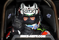 Jul, 10, 2011; Joliet, IL, USA: NHRA funny car driver Mike Neff during the Route 66 Nationals at Route 66 Raceway. Mandatory Credit: Mark J. Rebilas-