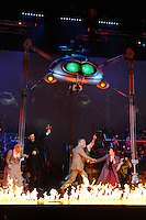 """Heidi Range, Jimmy Nail, David Essex, Michael Praed, Madalena Alberto and Daniel Bedingfield<br /> in the musical of """"The War of the Worlds"""" at the Dominion Theatre, London.<br /> <br /> <br /> ©Ash Knotek  D3083 12/02/2016"""