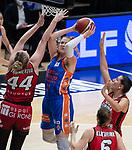 Copa de la Reina 2021 de baloncesto.<br /> FINAL.<br /> UNI Girona - Valencia Basket.<br /> 7 de marzo de 2021.<br /> Pabellon de la Fuente de San Luis.<br /> Valencia - España.