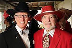Don Short and John Bradshaw at the Hermann Park Conservancy Hat Party Tuesday March 9,2010. (Dave Rossman Photo)