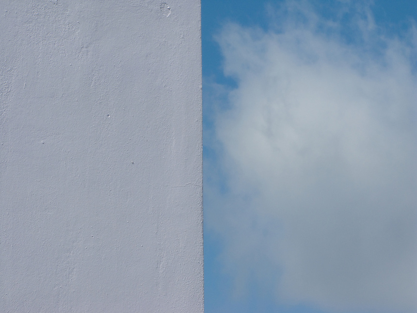 Sky and wall detail