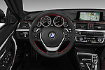 Car pictures of steering wheel view of a 2017 BMW 4-Series 430i 2 Door Convertible Steering Wheel
