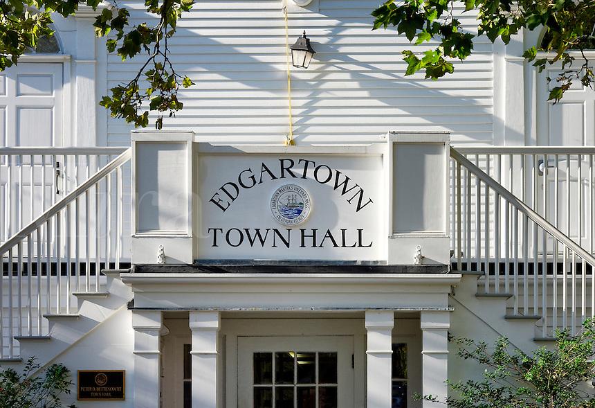 Edgartown Town Hall, Martha's Vineyard, Massachusetts, USA