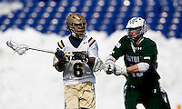 at the Navy-Marine Corp Memorial Stadium in Annapolis, Maryland.   Loyola defeated Navy, 8-7, in overtime.