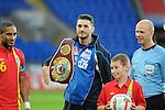 14th August 2013 - Cardiff - UK : Wales v Republic of Ireland - Vauxhall International Friendly at Cardiff City Stadium : WBO world light-heavyweight champion Nathan Cleverly.