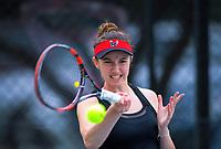 Kelly Southwood. 2019 Wellington Tennis Open at Renouf Centre in Wellington, New Zealand on Thursday, 19 December 2019. Photo: Dave Lintott / lintottphoto.co.nz