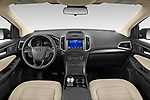 Stock photo of straight dashboard view of 2020 Ford Edge SE 5 Door SUV Dashboard
