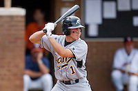 Paul Nice #1 of the VCU Rams at bat against the Virginia Cavaliers at the Charlottesville Regional of the 2010 College World Series at Davenport Field on June 4, 2010, in Charlottesville, Virginia.  The Cavaliers defeated the Rams 14-5.  Photo by Brian Westerholt / Four Seam Images