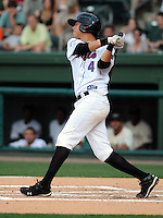 Infielder Wilmer Flores (4) of the Savannah Sand Gnats at the 2010 South Atlantic League All-Star Game on Tuesday, June 22, 2010, at Fluor Field at the West End in Greenville, S.C. Photo by: Tom Priddy/Four Seam Images