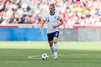 SANDY, UT - JUNE 10: Walker Zimmerman #3 of the United States passes the ball during a game between Costa Rica and USMNT at Rio Tinto Stadium on June 10, 2021 in Sandy, Utah.