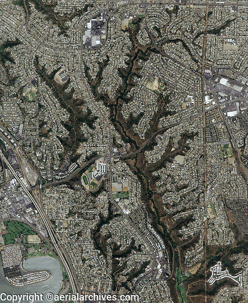 aerial photo map of Claremont, San Diego County, California