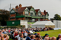 21st September 2021; Aigburth, Merseyside, England; County Championship Cricket, Lancashire versus Hampshire, Day 1; A good crowd gathers for the first day at Aigburth Cricket Ground, whose pavilion, built in 1880, is the oldest remaining at a first-class cricket ground