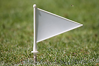 Boundary marker flag during Wanstead and Snaresbrook CC vs Harold Wood CC, Hamro Foundation Essex League Cricket at Overton Drive on 17th July 2021