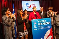 Le Premier Ministre Philippe Couillard et la candidate liberale dans l'élection partielle de Verdun Isabelle Melancon, le 5 decembre 2016.<br /> <br /> <br /> PHOTO : <br /> - Agence Quebec presse