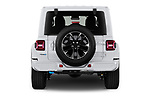 Straight rear view of 2021 JEEP Wrangler-Unlimited High-Altitude-4XE 5 Door SUV Rear View  stock images