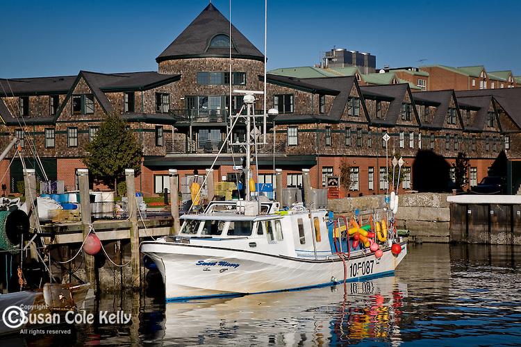 Fishing boat in Newport, RI, USA