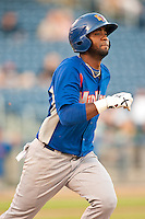 August 19,2010 Alex Valdez (5) in action during the MiLB game between the Midland RockHounds and the Tulsa Drillers at OneOk Field in Tulsa Oklahoma.