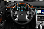 Steering wheel view of a 2009 Ford Flex