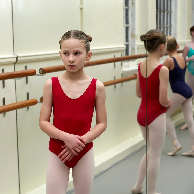 Anielka Jennings - Auditions for English National Ballet at their headquarters in Chelsea London..