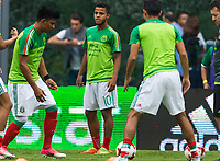 Mexico City, Mexico - Sunday June 11, 2017: Giovani dos Santos during a 2018 FIFA World Cup Qualifying Final Round match with both men's national teams of the United States (USA) and Mexico (MEX) playing to a 1-1 draw at Azteca Stadium.