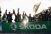 3rd October 2021, Paris–Roubaix Mens Cycling tour;  Cycling fans during the Paris–Roubaix which is famous for its uneven cobblestone course.