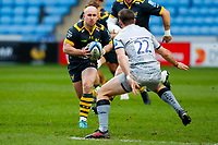 27th March 2021; Ricoh Arena, Coventry, West Midlands, England; English Premiership Rugby, Wasps versus Sale Sharks; Dan Robson of Wasps takes on AJ MacGinty of Sale Sharks