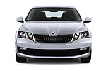 Car photography straight front view of a 2017 Skoda Octavia Ambition 5 Door Hatchback