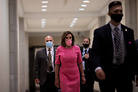 Speaker of the United States House of Representatives Nancy Pelosi (Democrat of California) arrives for her weekly press conference on Capitol Hill in Washington, District of Columbia on Thursday, June 4, 2020. <br /> Credit: Ting Shen / CNP/AdMedia