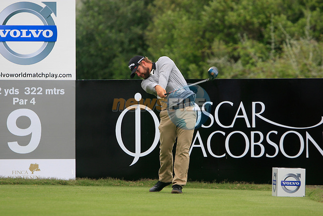 Ryan Moore (USA) tees off on the 9th tee during Day 2 of the Volvo World Match Play Championship in Finca Cortesin, Casares, Spain, 20th May 2011. (Photo Eoin Clarke/Golffile 2011)