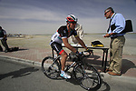 Yaroslav Popovych (UKR) Radioshack-Nissan signs on before the start of Stage 4 of the 2012 Tour of Qatar from Al Thakhira to Madinat Al Shamal, Qatar. 8th February 2012.<br /> (Photo Eoin Clarke/Newsfile)