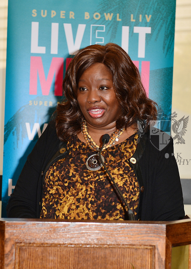 MIAMI, FLORIDA - JANUARY 29: Pamela Taylor attends the 21st Annual Super Bowl Gospel Celebration Press Conference at James L Knight Center on January 29, 2020 in Miami, Florida.  ( Photo by Johnny Louis / jlnphotography.com )