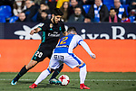 Marco Asensio Willemsen (L) of Real Madrid battles for the ball with Roberto Roman Triguero of CD Leganes during the Copa del Rey 2017-18 match between CD Leganes and Real Madrid at Estadio Municipal Butarque on 18 January 2018 in Leganes, Spain. Photo by Diego Gonzalez / Power Sport Images
