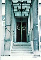 Josef Hoffman: Palais Stoclet, Brussels. Entrance detail. Photo '87.
