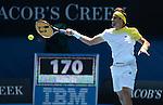 David Ferrer (ESP) wins at Australian Open in Melbourne Australia on 20th January 2013
