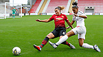 Amy Turner of Manchester United Women and Gemma Bryan of Charlton Athletic Women
