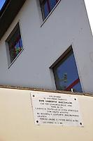 Colleferro.Targa commemorativa di don Umberto Mazzocchi, primo parroco del paese.