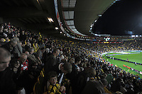 A general view of Westpac Stadium during the Super 15 rugby match between the Hurricanes and Crusaders at Westpac Stadium, Wellington, New Zealand on Saturday, 21 April 2012. Photo: Dave Lintott / lintottphoto.co.nz