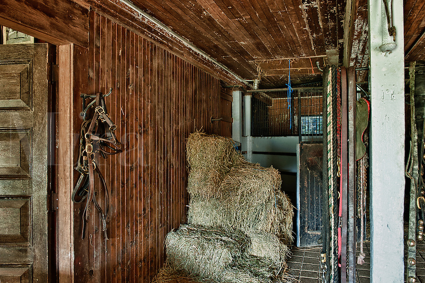 Rustic stable interior.