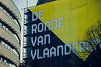huge Ronde banners all over town<br /> <br /> 101th Ronde Van Vlaanderen 2017 (1.UWT)<br /> 1day race: Antwerp › Oudenaarde - BEL (260km)
