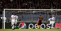Football Soccer: UEFA Champions League  AS Roma vs PFC CSKA Mosca Stadio Olimpico Rome, Italy, October 23, 2018. <br /> Roma's Edin Dzeko scores during the Uefa Champions League football soccer match between AS Roma and PFC CSKA Mosca at Rome's Olympic stadium, October 23, 2018.<br /> UPDATE IMAGES PRESS/Isabella Bonotto