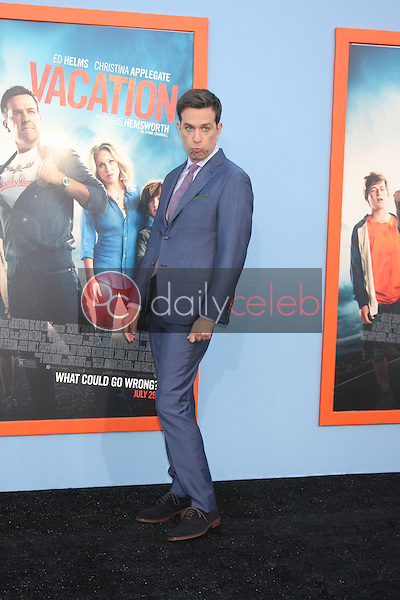 """Ed Helms<br /> at the """"Vacation"""" Premiere, Village Theater,Westwood, CA 07-27-15<br /> David Edwards/Dailyceleb.com 818-249-4998"""