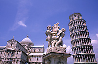 Famous Leaning Tower of Pisa in beautiful Pisa Italy Europ