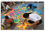 Street artists create with chalk on Larimer Square. From John's 5th book.<br /> Private photo tours of Denver by John. Click the above CONTACT button for inquiries. Denver private tours.